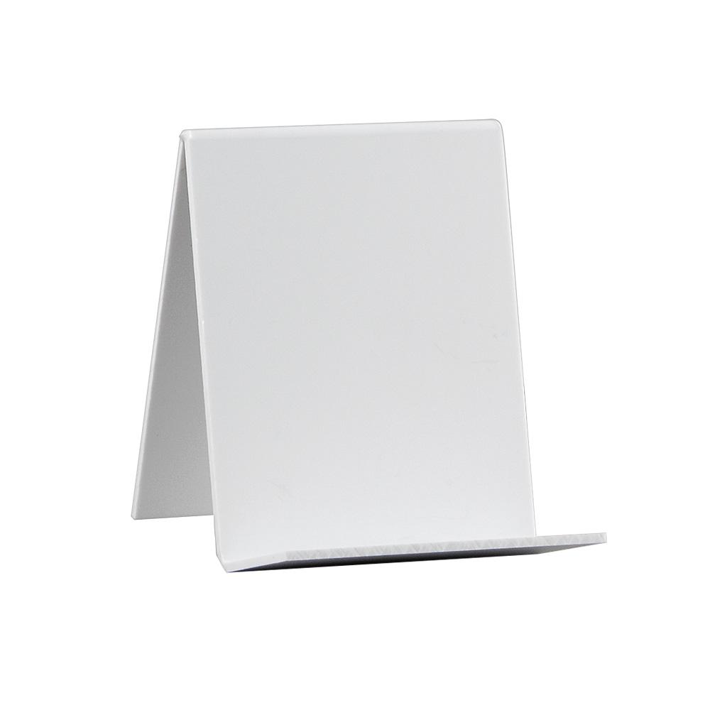 Bokstativ normalbok, hvit plast