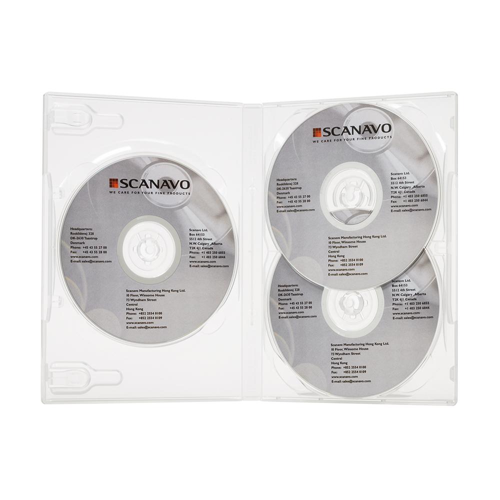 DVD boks for 3 DVDer, 22 mm