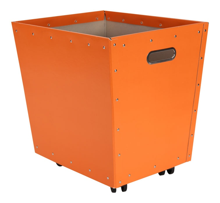 Tellus kasse m/hjul, oransje