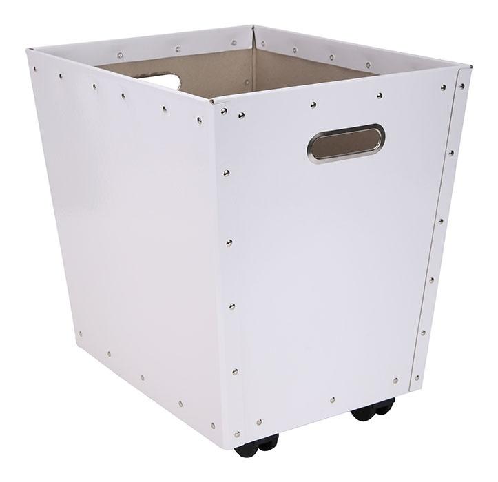Tellus kasse m/hjul, hvit