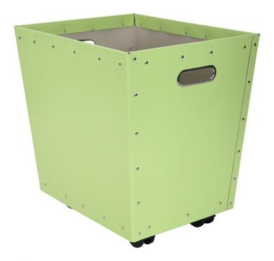 Tellus kasse m/hjul, lysegrønn