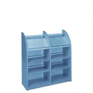 Memphis Mini, B90 x H97 enkel, blåbeiset