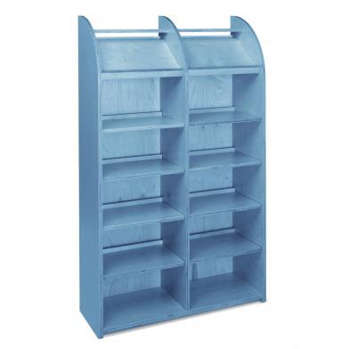 Memphis Maxi, B90 x H149,2, enkel, blåbeiset