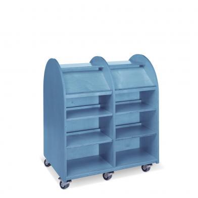Memphis Mini, 90 x H106,8, dobbel, blåbeiset