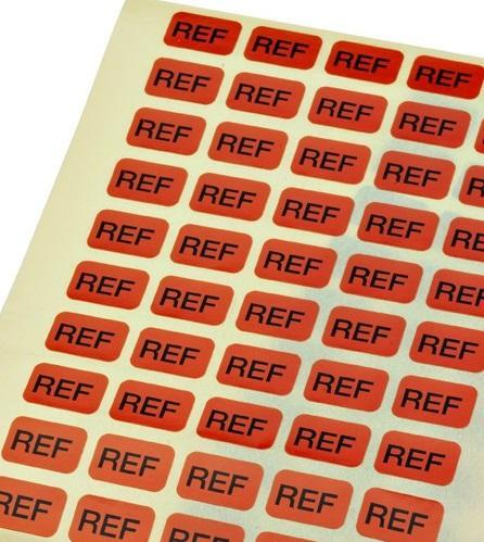 Etikett REF 10 x 15 mm, 50 stk.