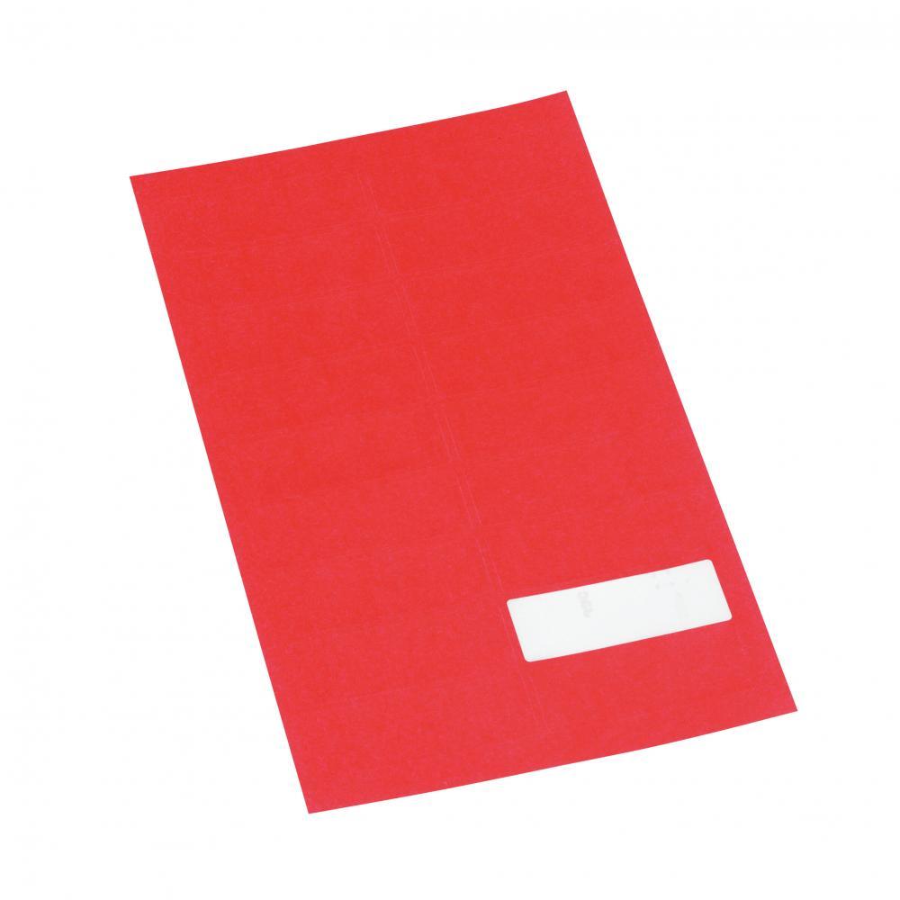 Etikett m/valgfri tekst, rød, 360 stk.