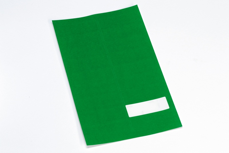 Etikett m/valgfri tekst, grønn, 360 stk.