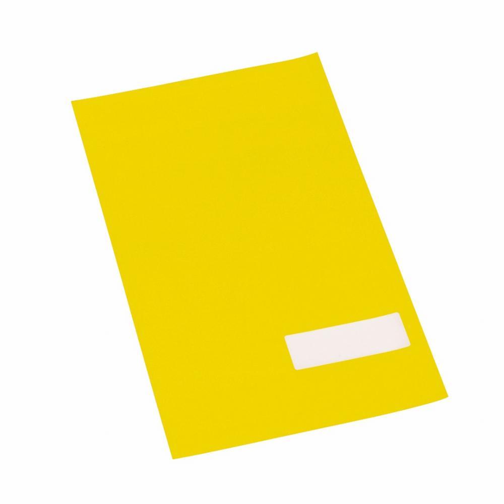 Etikett m/valgfri tekst, gul, 360 stk.