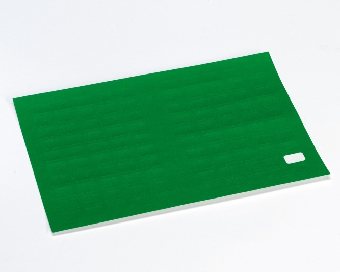 Etikett m/valgfri tekst,15x10mm,grønn,50stk.