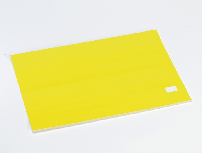 Etikett m/valgfri tekst,15x10 mm,gul,50 stk.
