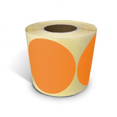Etikett, skrivbar, avtakbar, oransje, 500 stk.