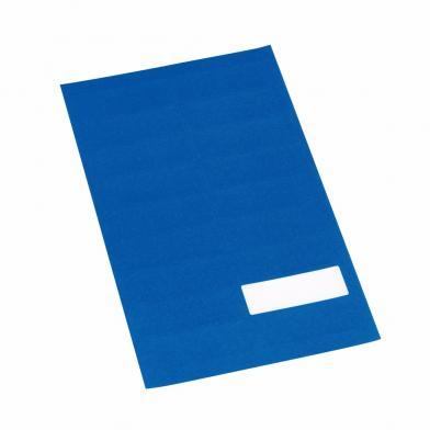 Etikett m/valgfri tekst, blå, 360 stk.
