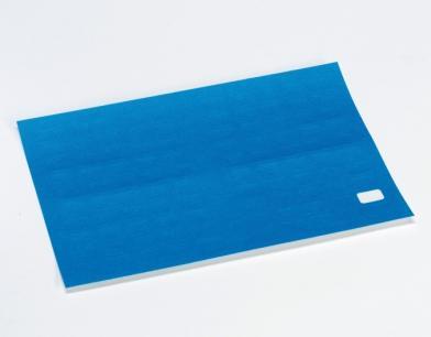Etikett m/valgfri tekst, 15x10 mm,blå,50 stk.