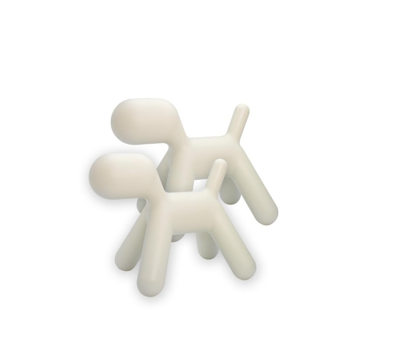 Puppy, liten, hvit, 2 stk.