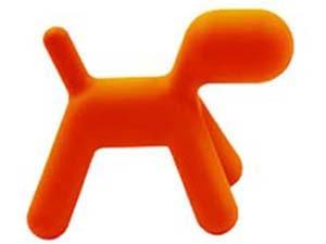 Puppy, stor, oransje, stk.