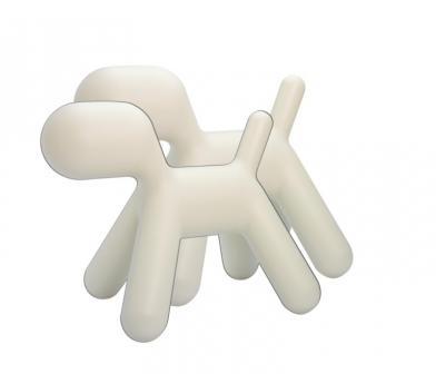 Puppy, medium, hvit, 2 stk.