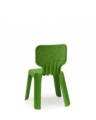 Alma barnestol, grønn, 4 stk.