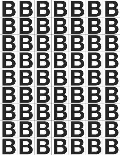 Etikett B, 30 x 30 mm, 63 stk.