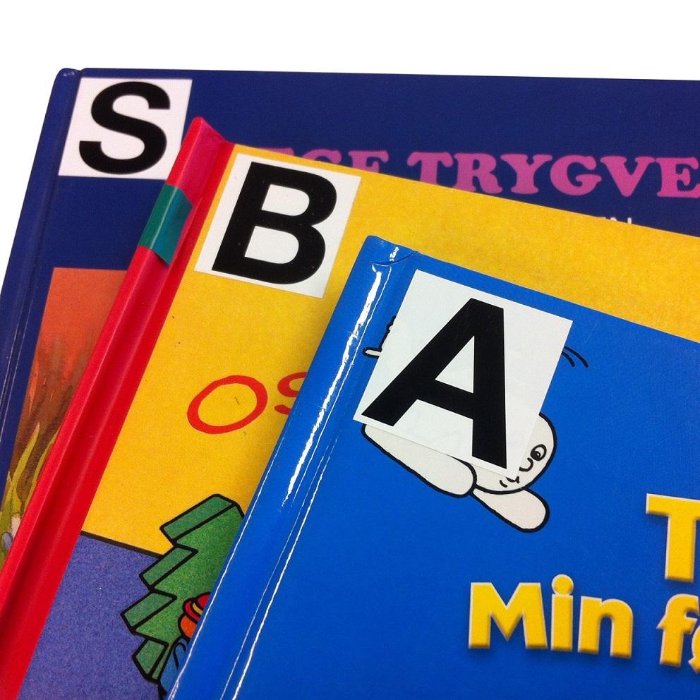 Etiketter til bildebøker o.l., A-Ä, 32 ark
