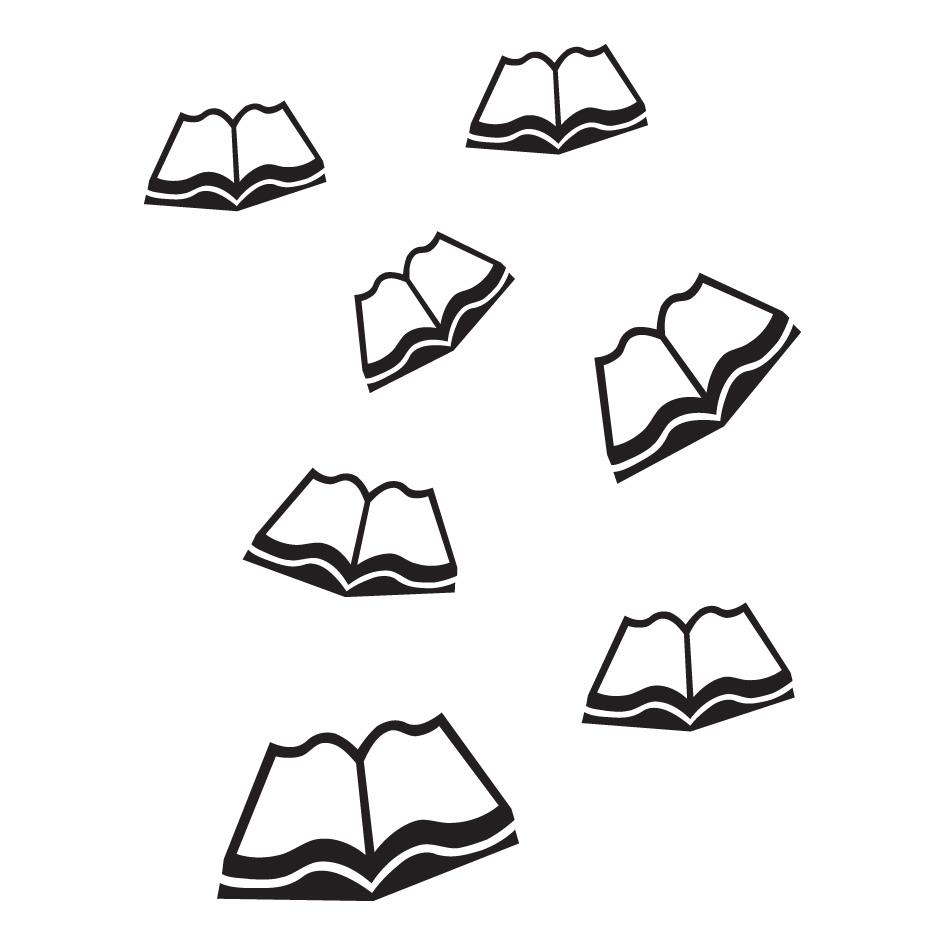 Folie Oppslåtte bøker, 11 stk.
