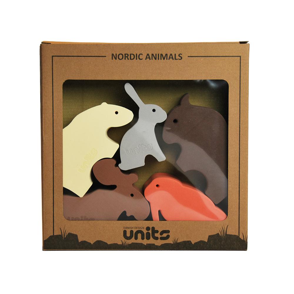 Lekedyr, nordiske dyr, 5 ulike