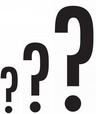Folie Spørsmålstegn, 3 stk.