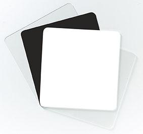 CD-register, nøytralt, hvitt, 50 stk.