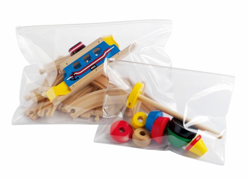 Plastpose m/glidelås, A4