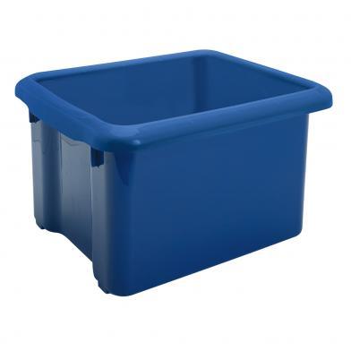 Bokkasse, blå plast