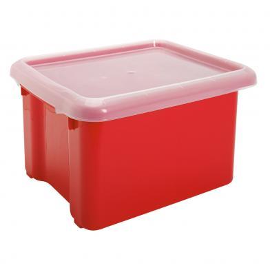 Bokkasse, rød plast