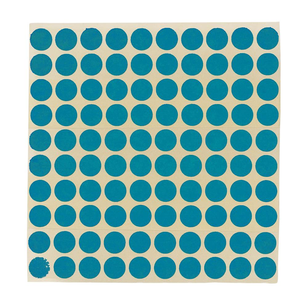Etikett Ø13 mm. blå, 100 stk.