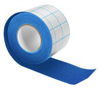 Tekstiltape m/dekkpapir, 5cmx10m,blå
