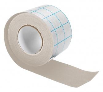 Tekstiltape m/dekkpapir 5 cm x 10 m, grå