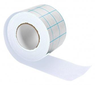 Tekstiltape m/dekkpapir, 5 cm x 10 m,hvit