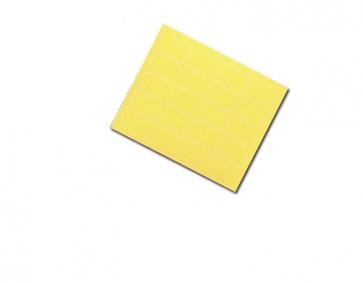 Etikett, gul, 200 stk.