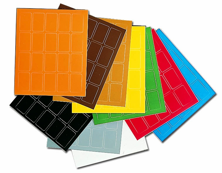 Etikett, 200 stk. x 12 farger