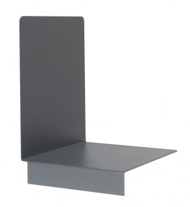 Bokstøtte m/stopper, venstre, grå, 10 stk.