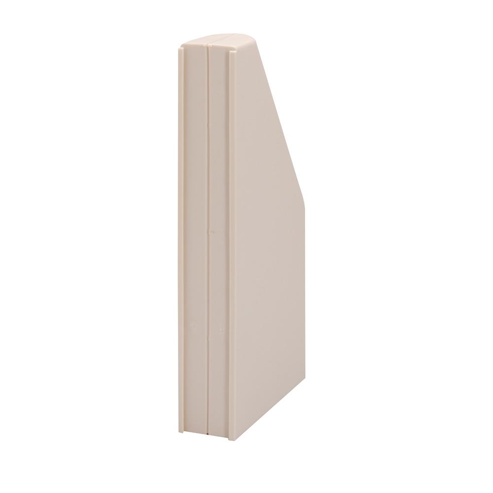 Blindbok m/bunnplate, grå