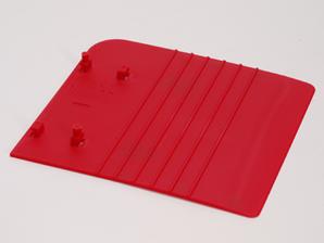 Bokstøtteplate til blindbok, rød