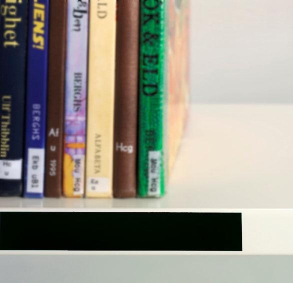 Etikettlist, magnetisk, 20mm x 10m, svart