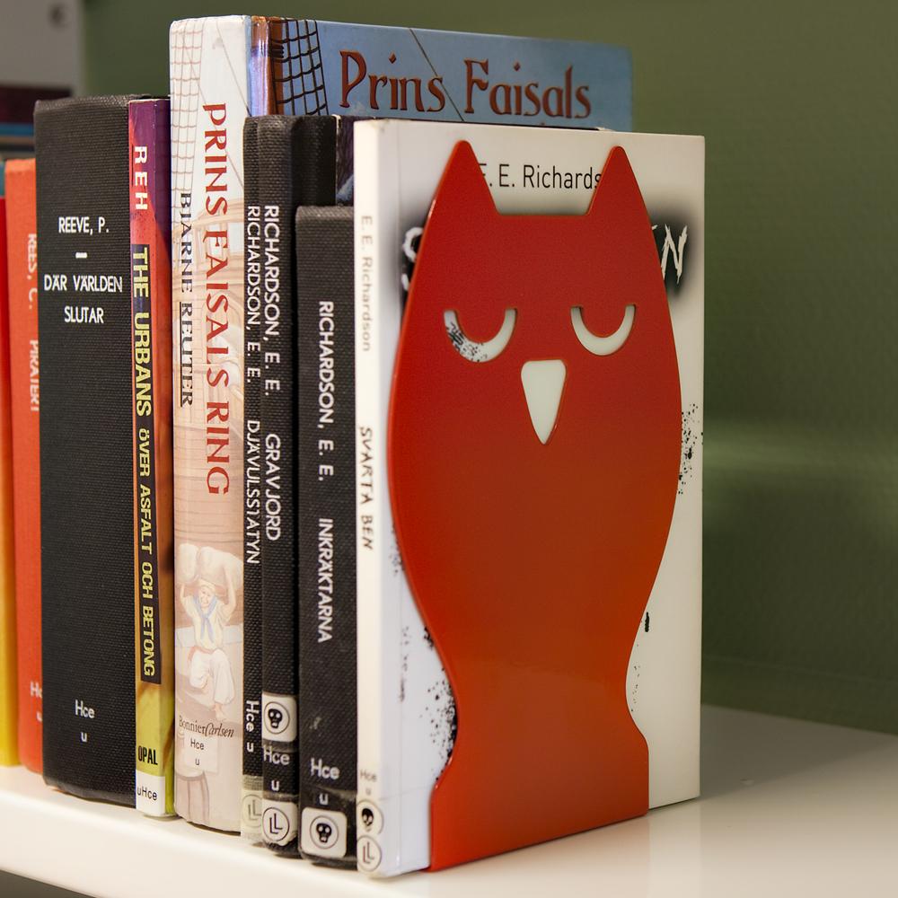 Bokstøtte Owl, rød