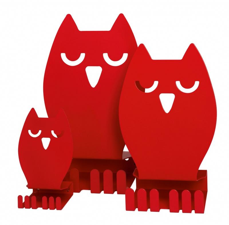 Bokstativ Owl, L, rød