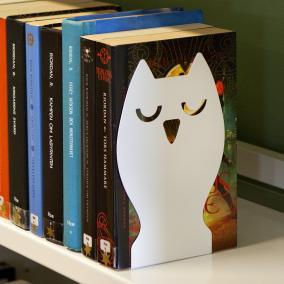 Bokstøtte Owl, hvit