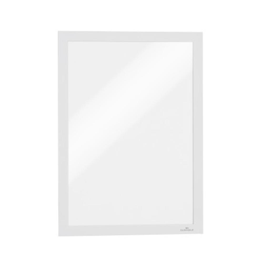 Skilt, selvkl. m/magnetramme A4, hvit, 2 stk.