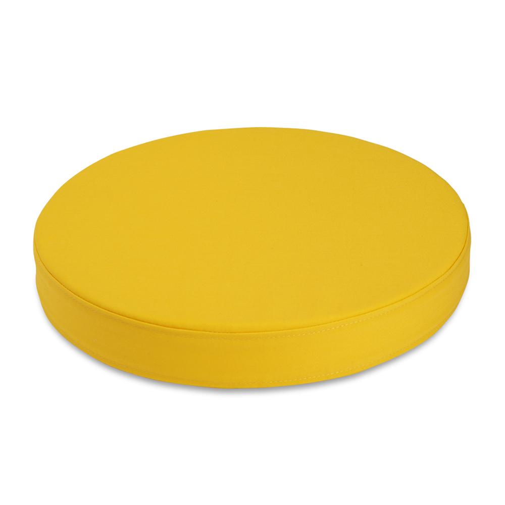 Sittepute Ø35 x H5 cm, gul
