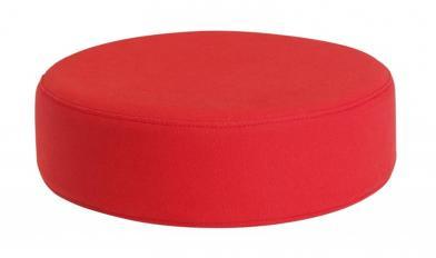 Sittepute Ø35 x H10 cm, rød