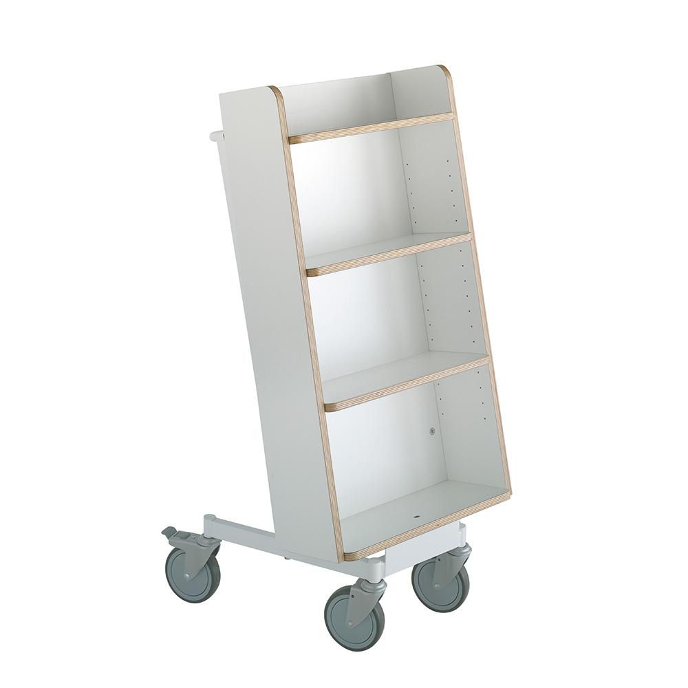 Bokvogn Halland Plus, hvit/hvit