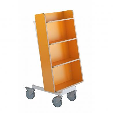 Bokvogn Halland Plus, oransje/hvit