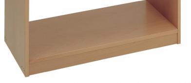 Avlastningshylle m/ sokkel til 4229/4065, bøk