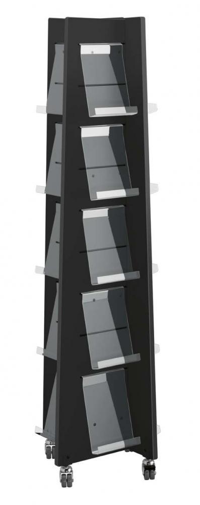 Quattro eksponeringstårn m/20 holdere, sort